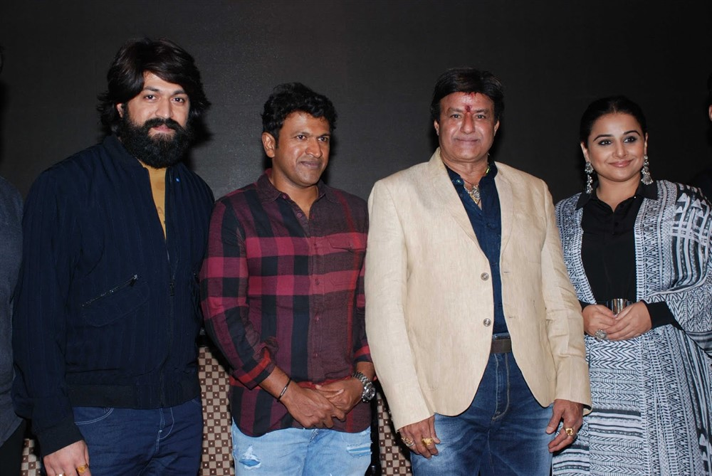 Yash, Puneeth Rajkumar, Balakrishna, Vidya Balan @ NTR Kathanayakudu Team at Bangalore Photos