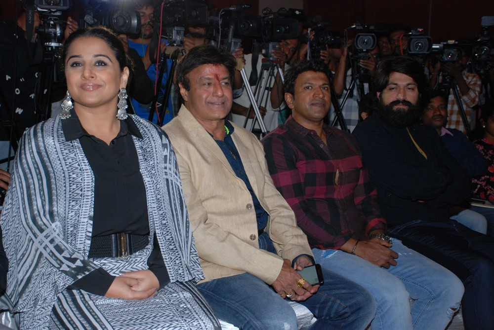 Vidya Balan, Balakrishna, Puneeth Rajkumar, Yash @ NTR Kathanayakudu Team at Bangalore Photos