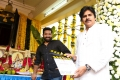 Power Star Pawan Kalyan sounded the clapboard for the muhurtham scene that was filmed on NTR