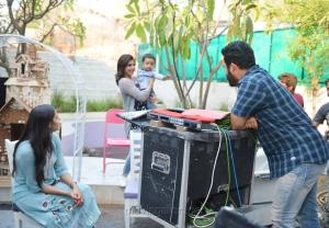 Samantha, NTR's Son Abhay at Janatha Garage Sets