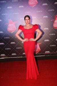 Actress Zarine Khan @ Nykaa Femina Beauty Awards 2019 Red Carpet Stills