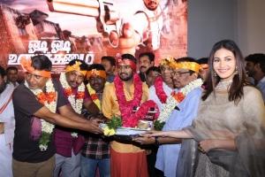 Amyra Dastur @ Odi Odi Uzhaikkanum Movie Pooja Stills
