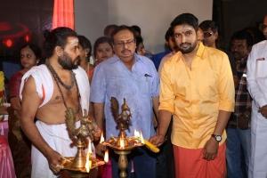 KS Srinivasan, Santhanam @ Odi Odi Uzhaikkanum Movie Pooja Stills
