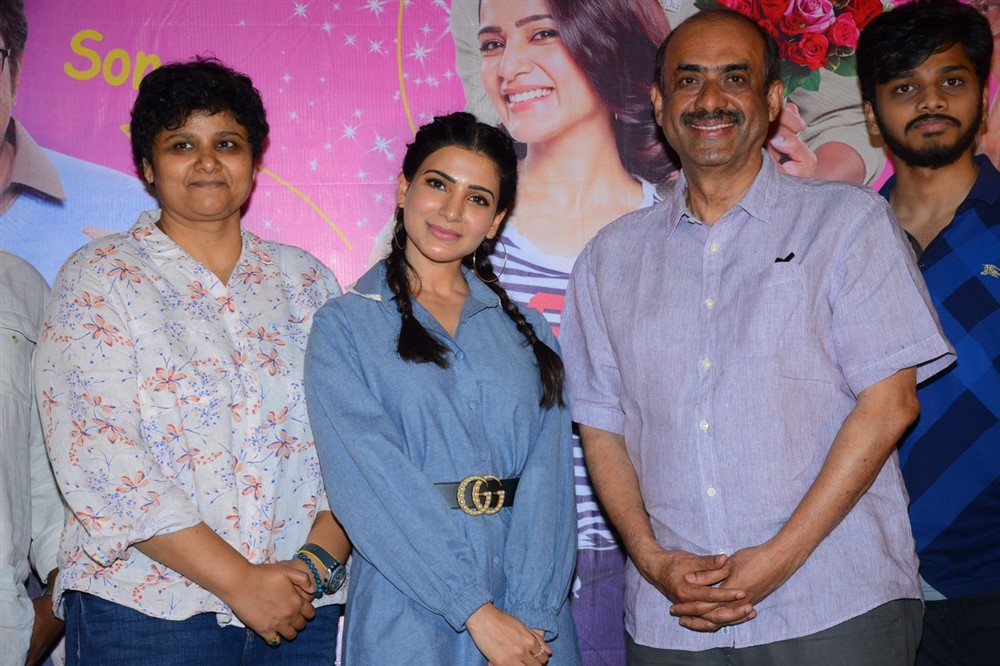 Samantha, D Suresh Babu @ Oh Baby Movie Press Meet Stills