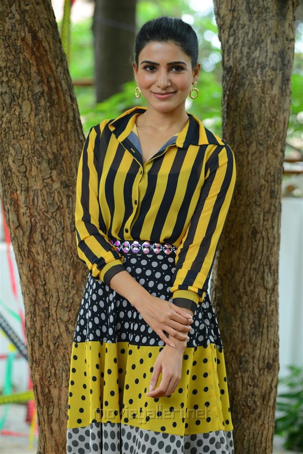 Oh Baby Movie Actress Samantha Akkineni Interview Stills