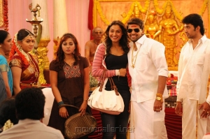 Hansika, Andrea, Arya in OK OK Telugu Movie Stills