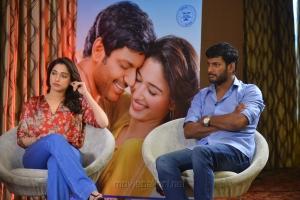 Okkadochadu Tamanna & Vishal Interview Photos