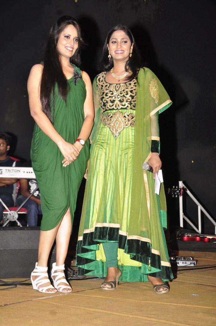 Anchor Anasuya, Jhansi Laxmi at Om 3D Movie Audio Release Function ...