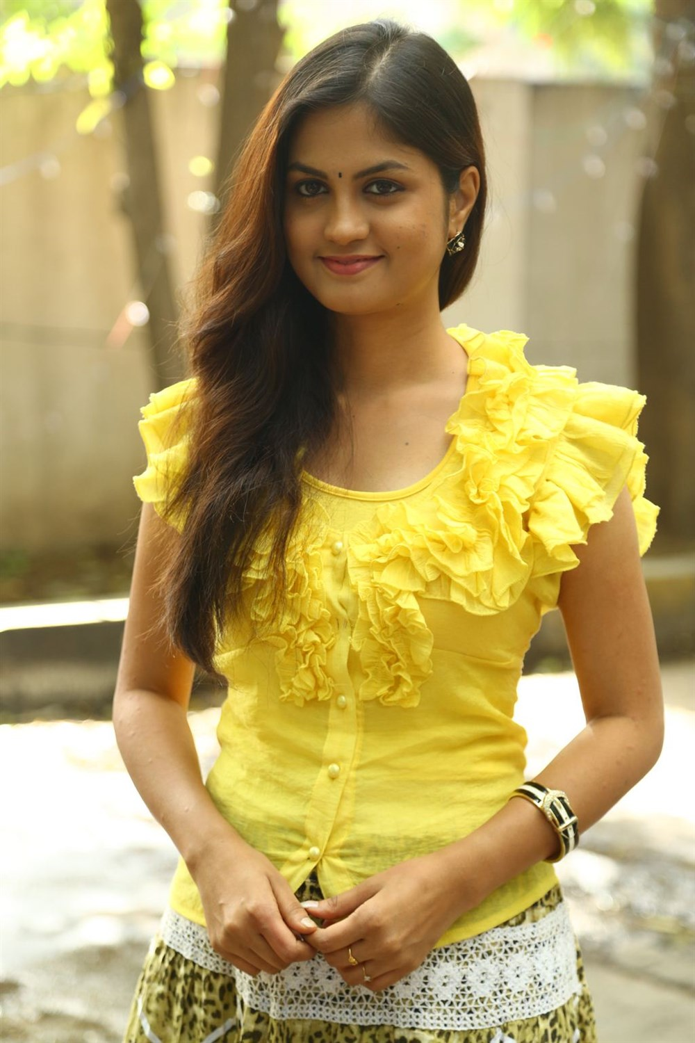 Acterss Aashritha @ Orange Mittai Movie Press Meet Stills