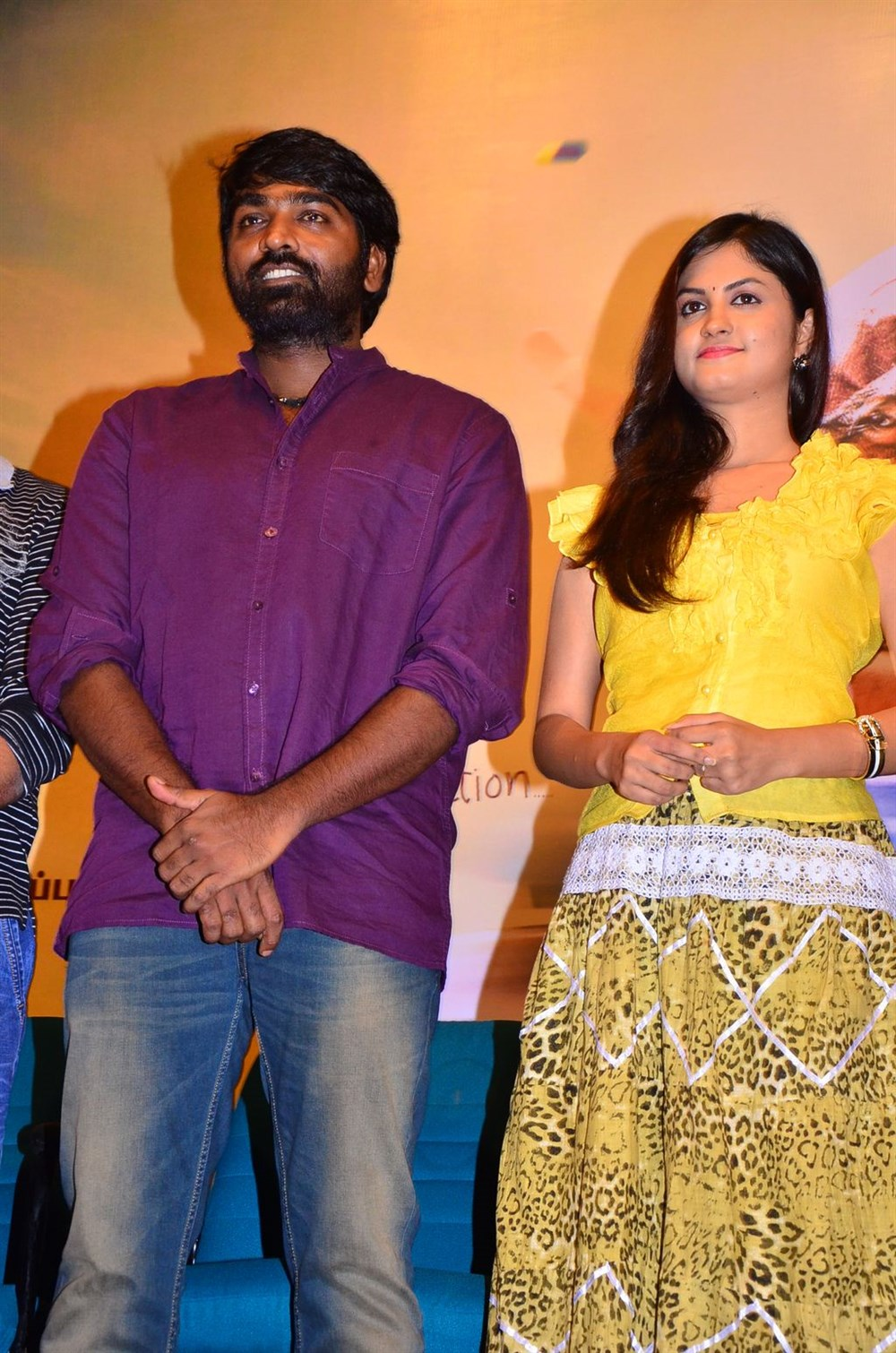 Vijay Sethupathi, Aashritha @ Orange Mittai Movie Press Meet Stills