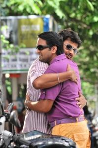 Udhayanidhi, Santhanam @ Oru Kal Oru Kannadi Movie Stills
