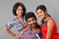 Bindu Madhavi, Arulnidhi, Ashrita Shetty in Oru Kanniyum Moonu Kalavanigalum Movie Stills