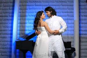 Nandagi, Anu Mohan in Oru Vaanavil Pola Tamil Movie Stills