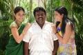 Sanya, Balasekaran, Swathi at Oruvar Meethu Iruvar Sainthu Movie Working Stills