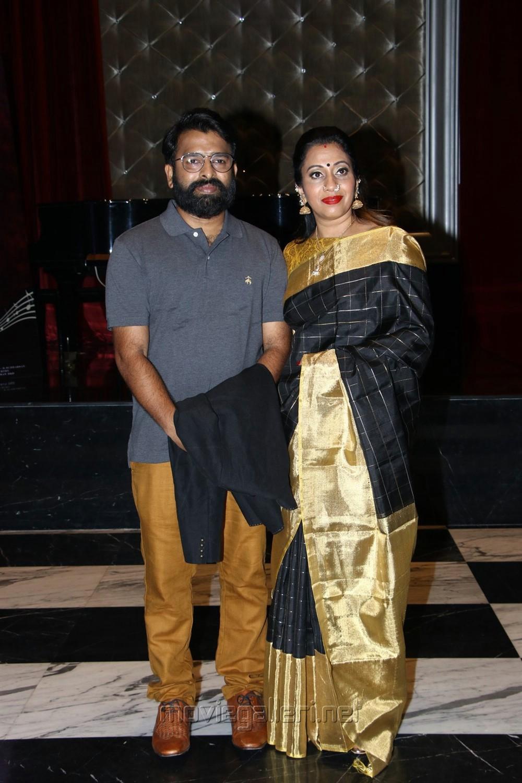 Santhosh Narayanan wife Meenakshi Iyer @ Oththa Seruppu Movie Audio Launch Stills