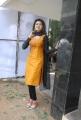 Actress Oviya Hot Photos in Orange Silk Churidar Dress