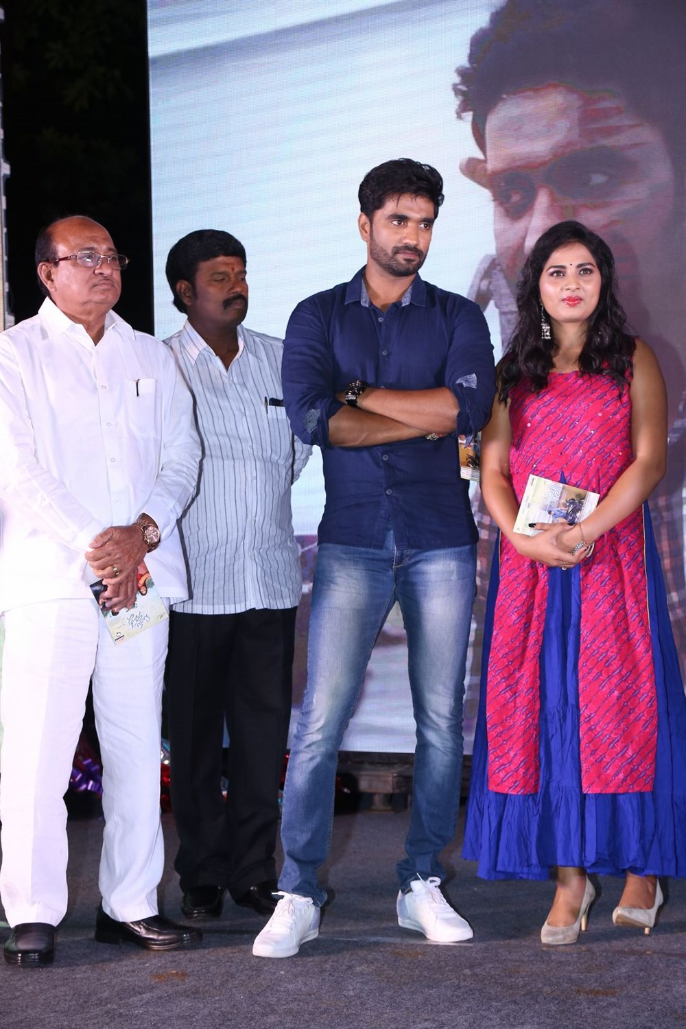 Bharath Margani, Srushti Dange @ Oy Ninne Movie Audio Launch Stills