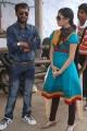 Aslam, Janani Iyer at Paagan Shooting Spot Stills