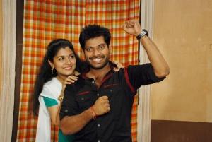 Raksha Raj, Nithin Sathya in Paandiyoda Galatta Thaangala Tamil Movie Stills