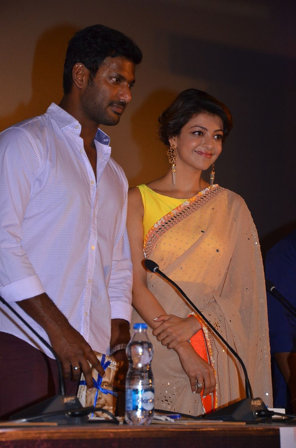 Vishal, Kajal Agarwal @ Paayum Puli Movie Audio Launch Stills