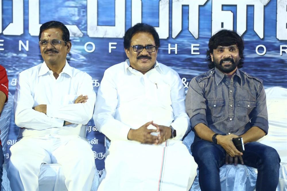 Kalaipuli S Thanu, Su Thirunavukkarasar @ Padaipalan Movie Audio Launch Photos