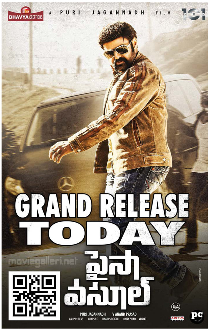 Balakrishna's Paisa Vasool Movie Grand Release Today Posters