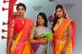 Model Sahithya Jagannathan, Ms.Jeyasree Ravi, Model Glisandra Elizabeth @ Palam Silks Concert Collections Launch Stills