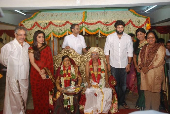 Jayam Ravi Wife Aarthi @ Panchu Arunachalam 70th Birthday Celebration Photos
