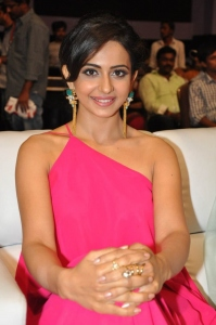 Actress Rakul Preet Singh @ Pandaga Chesko Movie Audio Launch Stills