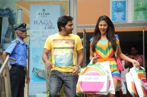 Vaibhav & Sonam Bajwa in Pandavullo Okadu Telugu Movie Stills