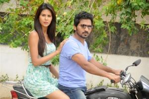 Sonam Bajwa, Vaibhav in Pandavullo Okadu Telugu Movie Stills