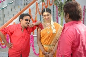 Venu Madhav, Abhinayasri in Pandavulu Movie Hot Stills