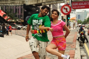 Sabarish, Sunaina in Pandi Oli Perukki Nilayam Hot Stills