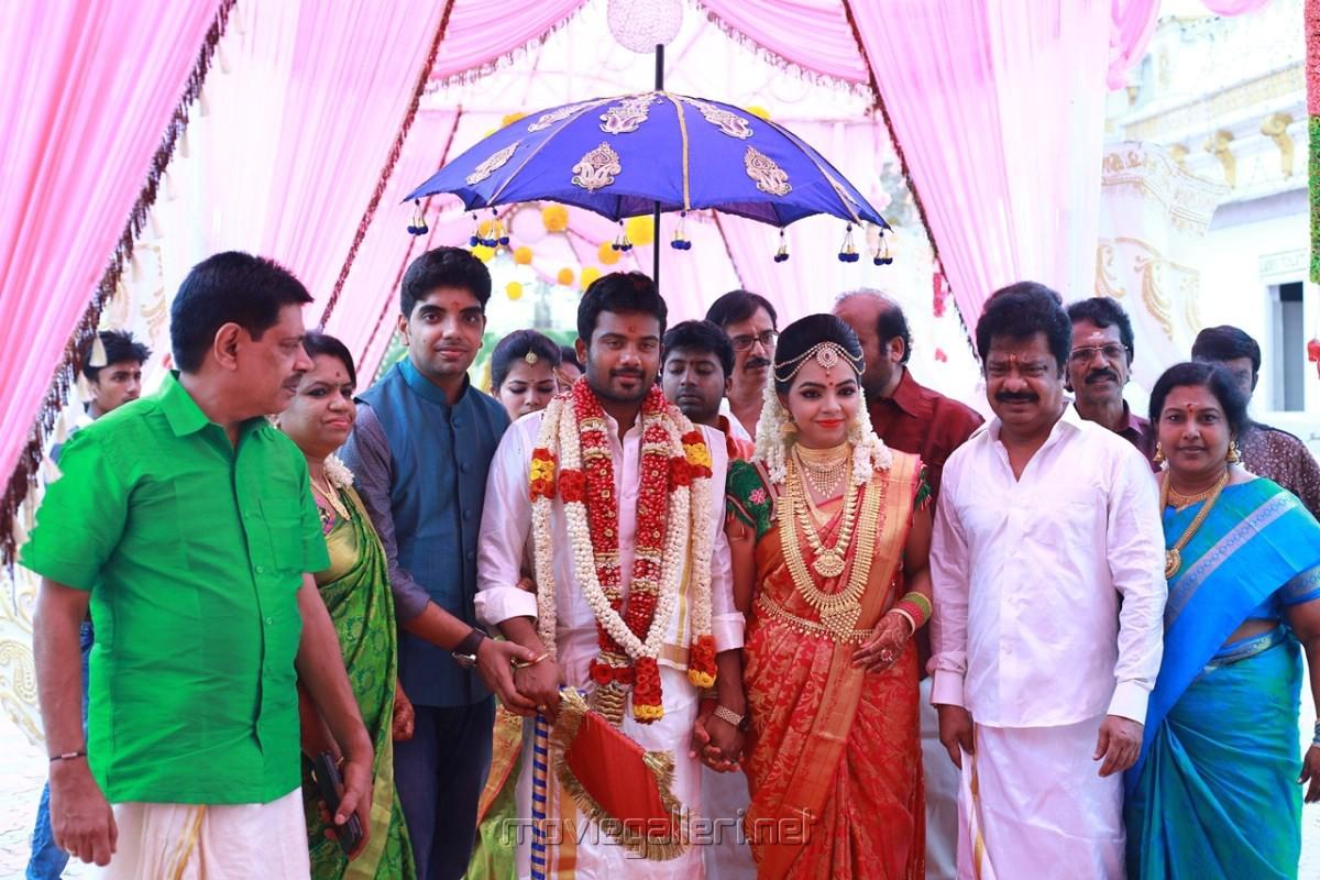 Pandiarajan son marriage photos