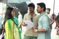 Anandhi, Kreshna, Feroz @ Pandigai Movie Working Stills