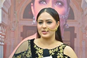 Nikesha Patel @ Pandimuni Movie Press Meet Stills