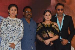 Meghali, Kasthuri Raja, Jackie Sherof, Nikesha Patel @ @ Pandimuni Movie Press Meet Stills