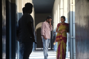Suseenthiran, Lakshmi Menon @ Pandiya Nadu Movie On Location Photos