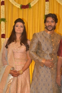 Actor Pandu Son Pintu Spathika Wedding Reception Stills
