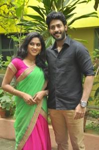 Swasika, Melvin Siddhesh @ Panduvam Movie Team Interview Stills