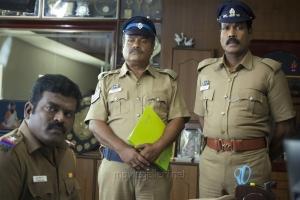 Aruldass, Ilavarasu, Kalabhavan Mani in Papanasam Movie Stills