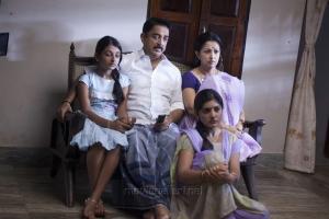 Esther Anil, Kamal Hassan, Gautami, Niveda Thomas in Papanasam Movie Stills