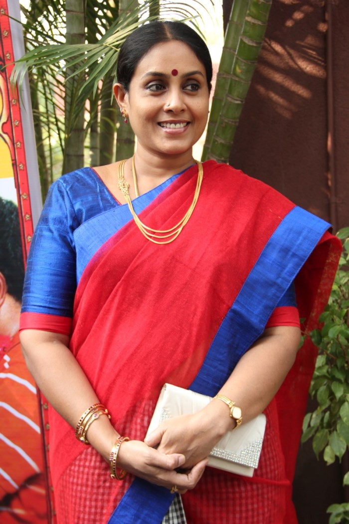 Actress Saranya Ponvannan @ Pappali Movie Audio Launch Stills