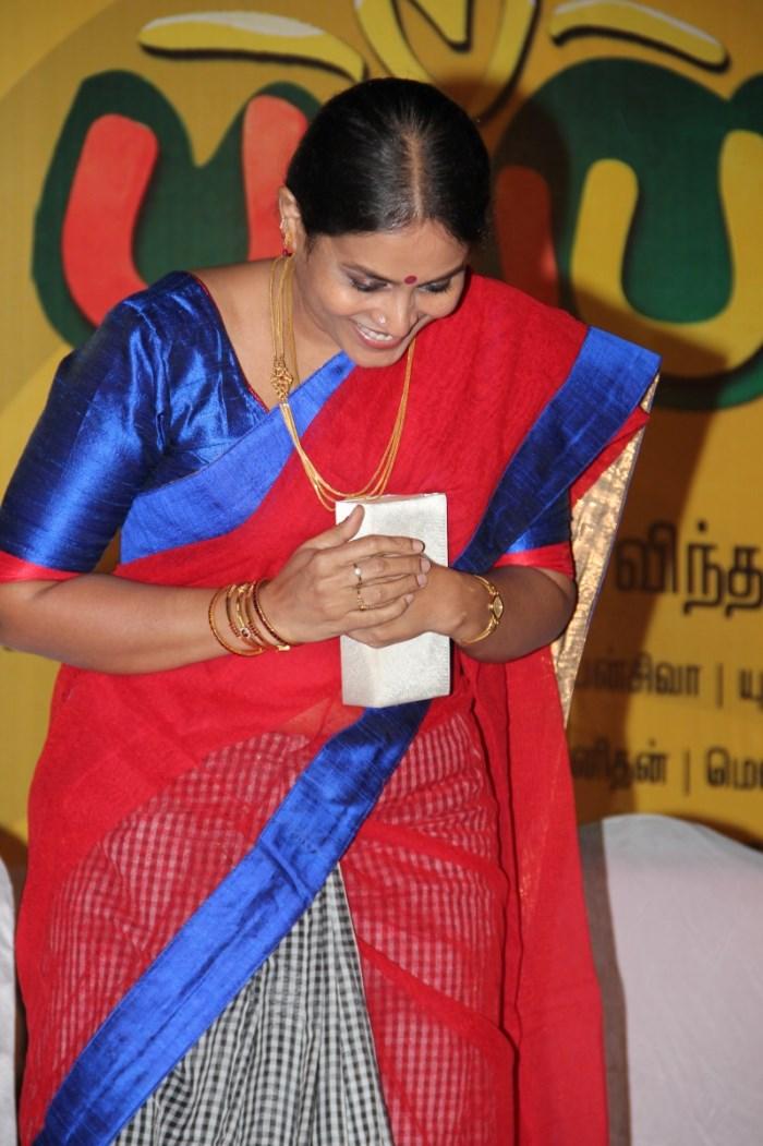 Actress Saranya Ponvannan @ Pappali Movie Audio Launch Stills