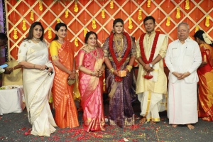 Nalli Kuppuswami Chetti @ Parthiban daughter Abhinaya Wedding Reception Stills