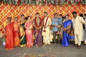 M.J. Shriram, Srilekha Parthasarathy @ Parthiban daughter Abhinaya Wedding Reception Stills