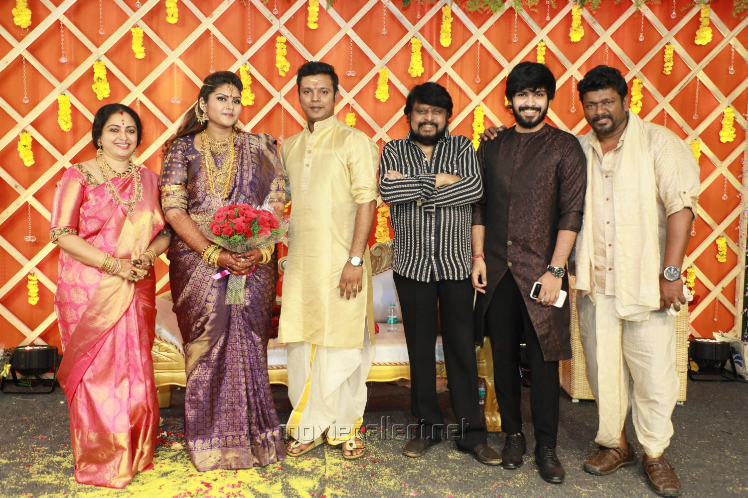 Vikraman @ Parthiban daughter Abhinaya Wedding Reception Stills