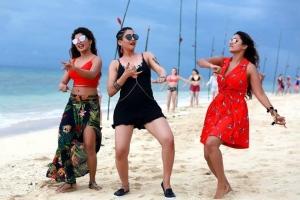 Sanchita Shetty, Regina Cassandra, Nivetha Pethuraj @ Party Movie Working Stills