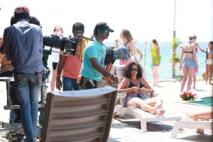 Party Movie Cha Cha Charey Song Working Stills
