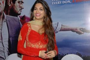 David Billa Actress Parvathy Omanakuttan in Red Long Sleeve Dress
